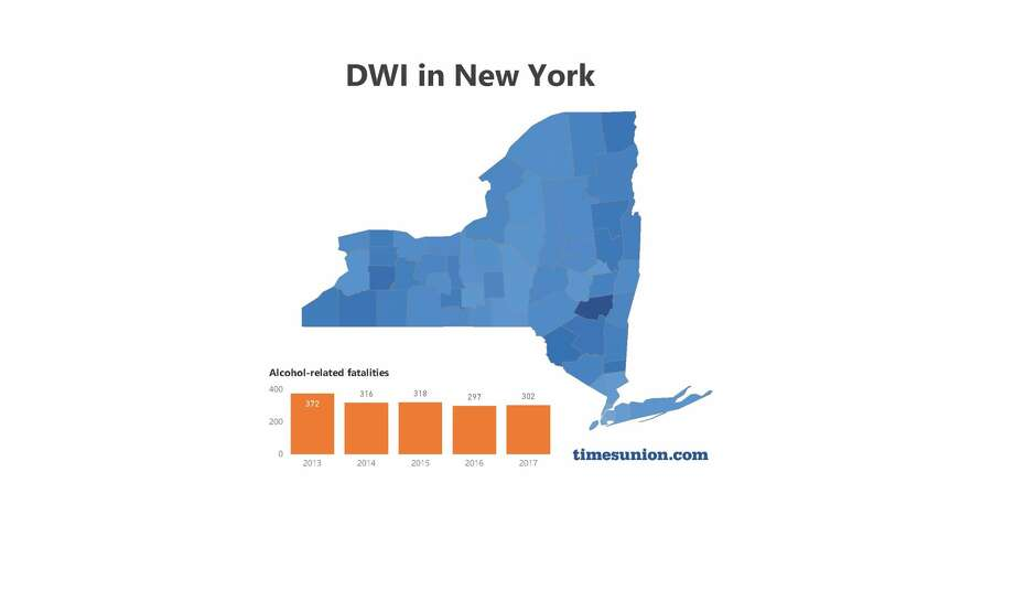 Explore DWI arrests in New York on the interactive map below. (Cathleen F. Crowley / Times Union) Photo: Cathleen F. Crowley/Times Union