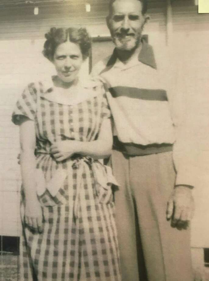 Dan M. Houlihan and Louise Kelly Houlihan at their home on the Hooper Oil & Gas Lease in 1949. Dan M. Houlihan worked in the Conroe oilfield from the early 1930s up until his death in the early 1980s. Photo: Photo Courtesy The Heritage Museum Of Montgomery County