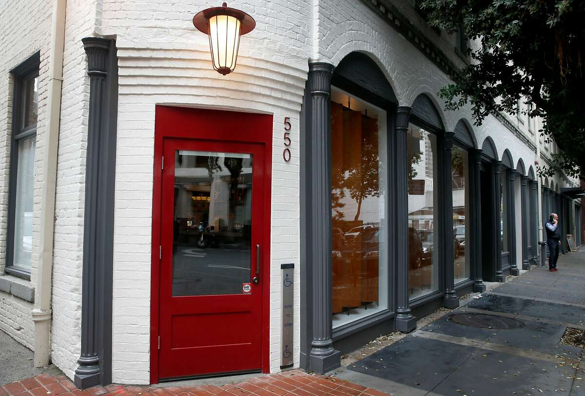 Final preparations are wrapping up for next week's opening of Verjus wine bar and shop on Washington Street in San Francisco, Calif. on Tuesday, Jan. 8, 2019.
