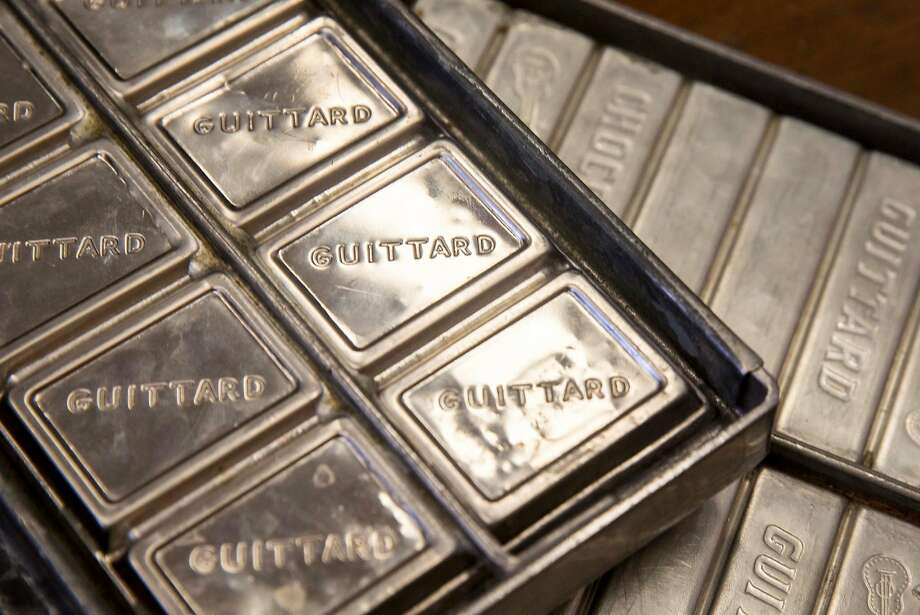 Original molds from the early years of Guittard Chocolate Company are seen inside the Guittard Chocolate Company headquarters in Burlingame, Calif. Wednesday, Sept. 26, 2018. Photo: Jessica Christian / The Chronicle