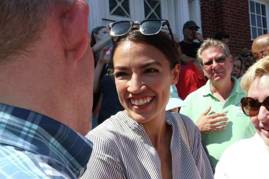 Alexandria Ocasio-Cortez, a newly elected U.S. representatives from New York, is, with others, pitching a Green New Deal that critics say the country can't afford and won't work. Photo: G. Ronald Lopez /TNS / Zuma Press