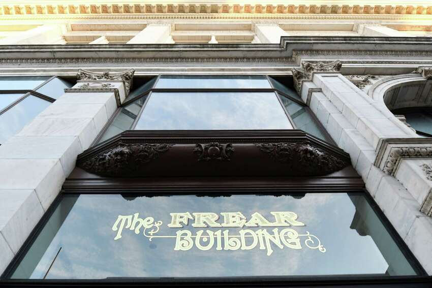 A view of the Frear Building where campaign representatives for Democratic U.S. Sen. Kirsten Gillibrand signed a lease for an office on the second floor Friday, Jan. 11, 2019 in Troy, N.Y. (Phoebe Sheehan/Times Union)