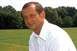 Rick Forzano, shown here in 1974, was the coach at UConn during the 1964 and 1965 seasons. Forzano recently died at the age of 90.