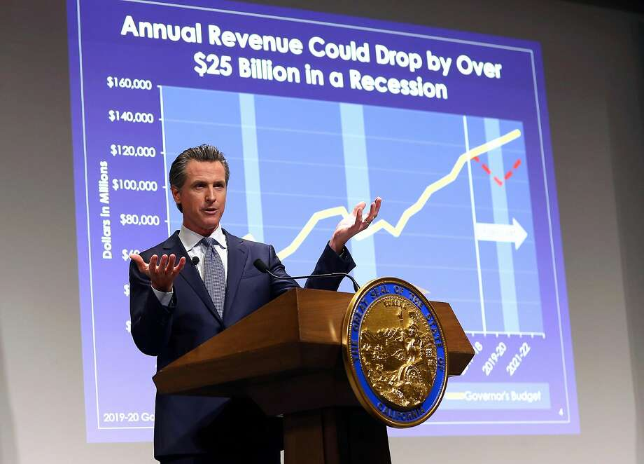 California Gov. Gavin Newsom presents his first state budget during a news conference, Thursday, Jan. 10, 2019, in Sacramento, Calif. (AP Photo/Rich Pedroncelli) Photo: Rich Pedroncelli / Associated Press