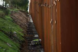 """There is already some 350 miles of barrier at the U.S.-Mexico border, much like this one separating the San Diego area from Tijuana. Trump wants $5.7 billion to add 150 miles more along the 2,000-mile border. If this is """"immoral,"""" what of the existing barriers?"""