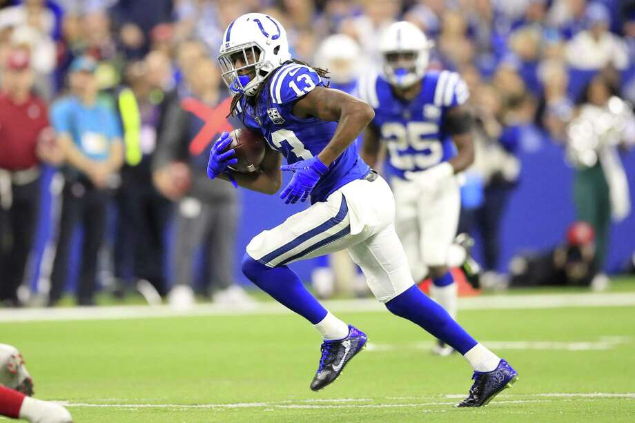 T.Y. Hilton and the Indianapolis Colts will face the Chiefs on Saturday. Photo: Andy Lyons / Getty Images / 2018 Getty Images