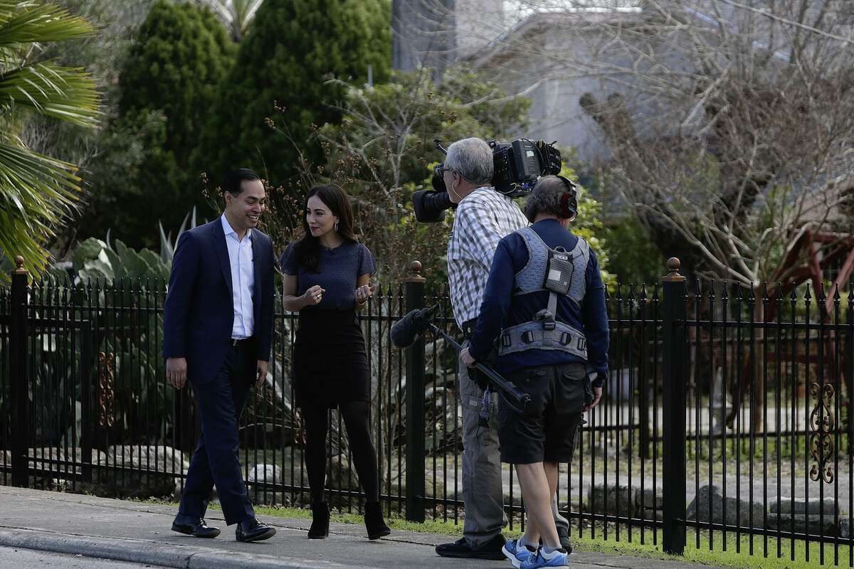 Juli‡n Castro, former HUD Secretary and former mayor of San Antonio, is interviewed by MSNBC's Mariana Atencio about his 2020 Presidental plans, across the street from his home in San Antonio on January 10, 2019.