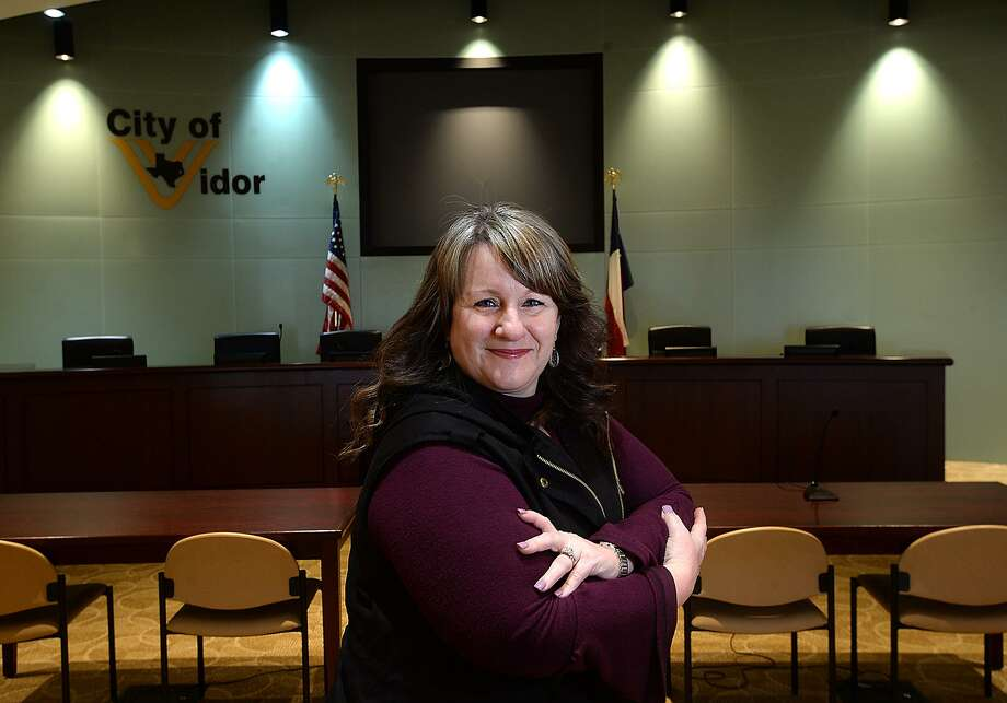 Kimberly Stiebig started her term of office as Vidor Masyor Friday. She was appointed to the position after Robert Viator, Jr., stepped aside to fill his new position as a commissioner after winning in the November election. Stiebig is the second woman to serve as mayor in Vidor.    Photo taken Friday, January 11, 2019  Photo by Kim Brent/The Enterprise Photo: Kim Brent / The Enterprise / BEN