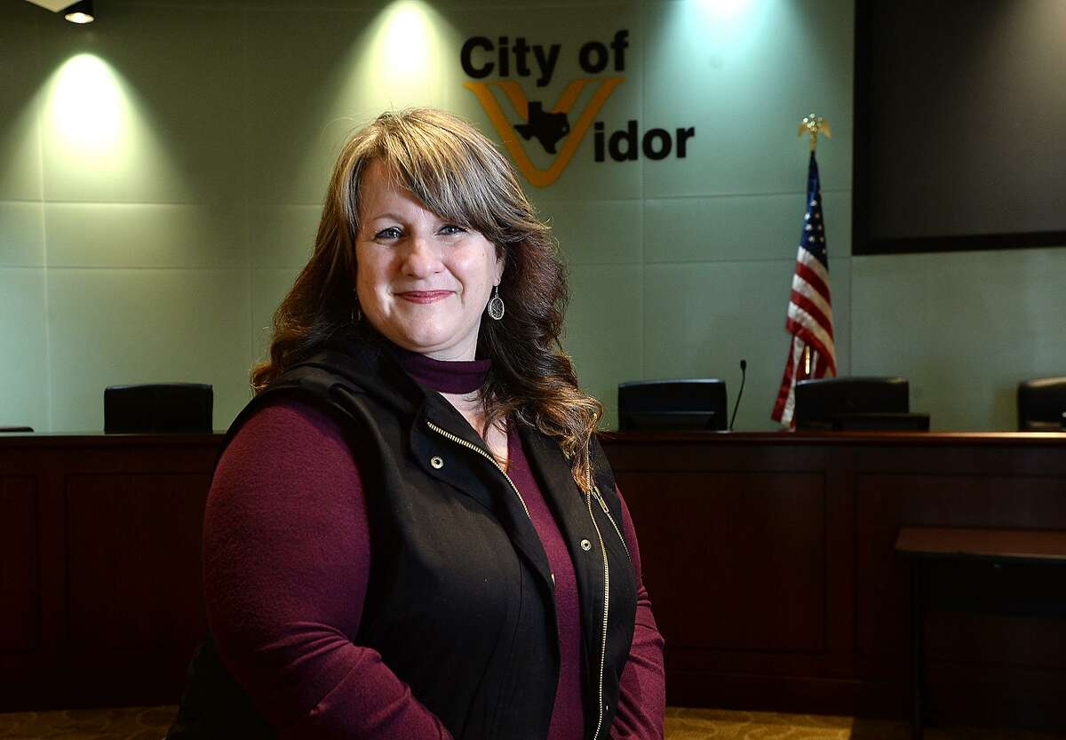 Kimberly Stiebig started her term of office as Vidor Masyor Friday. She was appointed to the position after Robert Viator, Jr., stepped aside to fill his new position as a commissioner after winning in the November election. Stiebig is the second woman to serve as mayor in Vidor. Photo taken Friday, January 11, 2019 Photo by Kim Brent/The Enterprise
