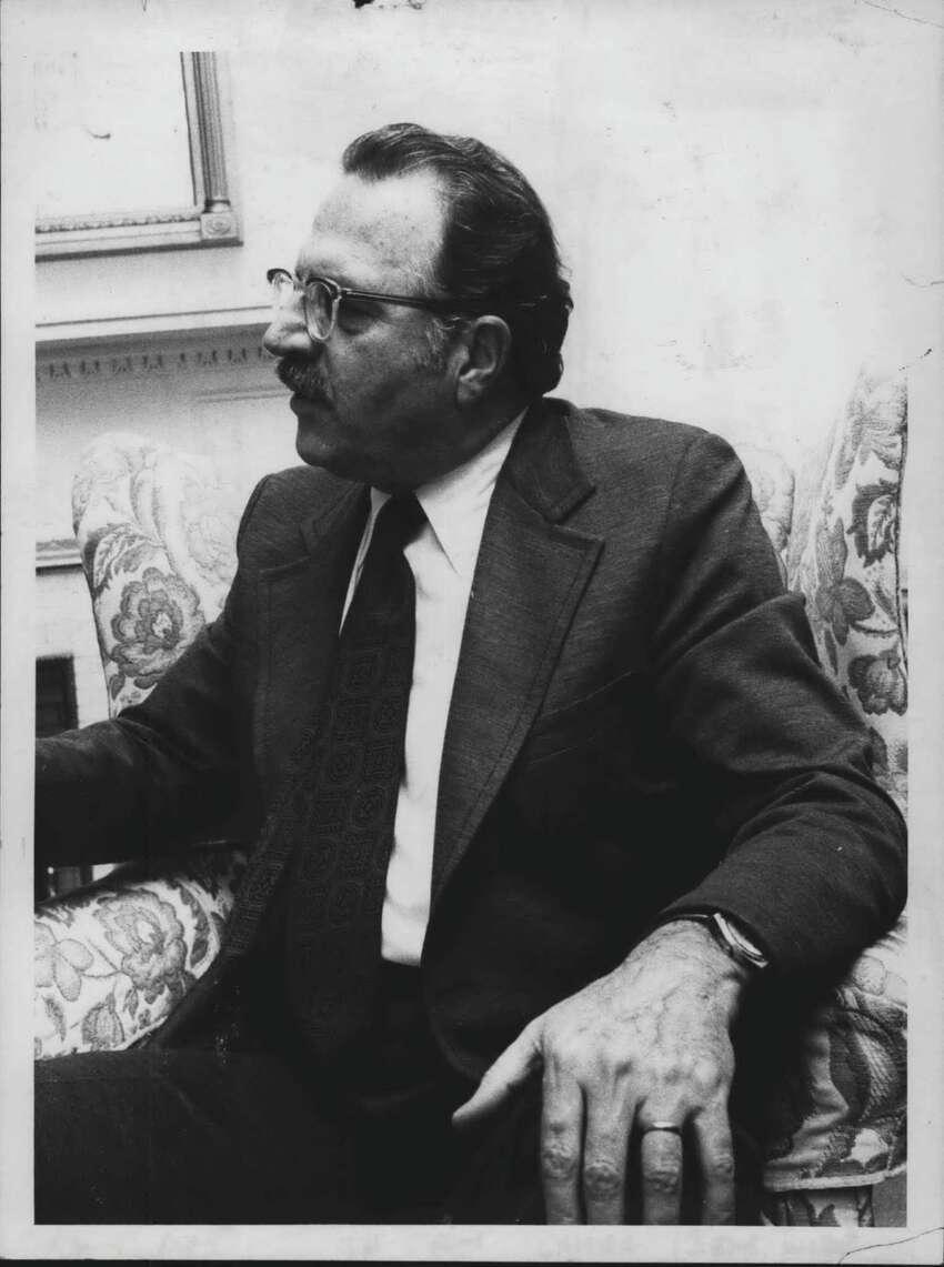 Reverend Robert Lamar, 1st Presbyterian Church, Albany, New York. December 11, 1975 (Jack Pinto/Times Union Archive)