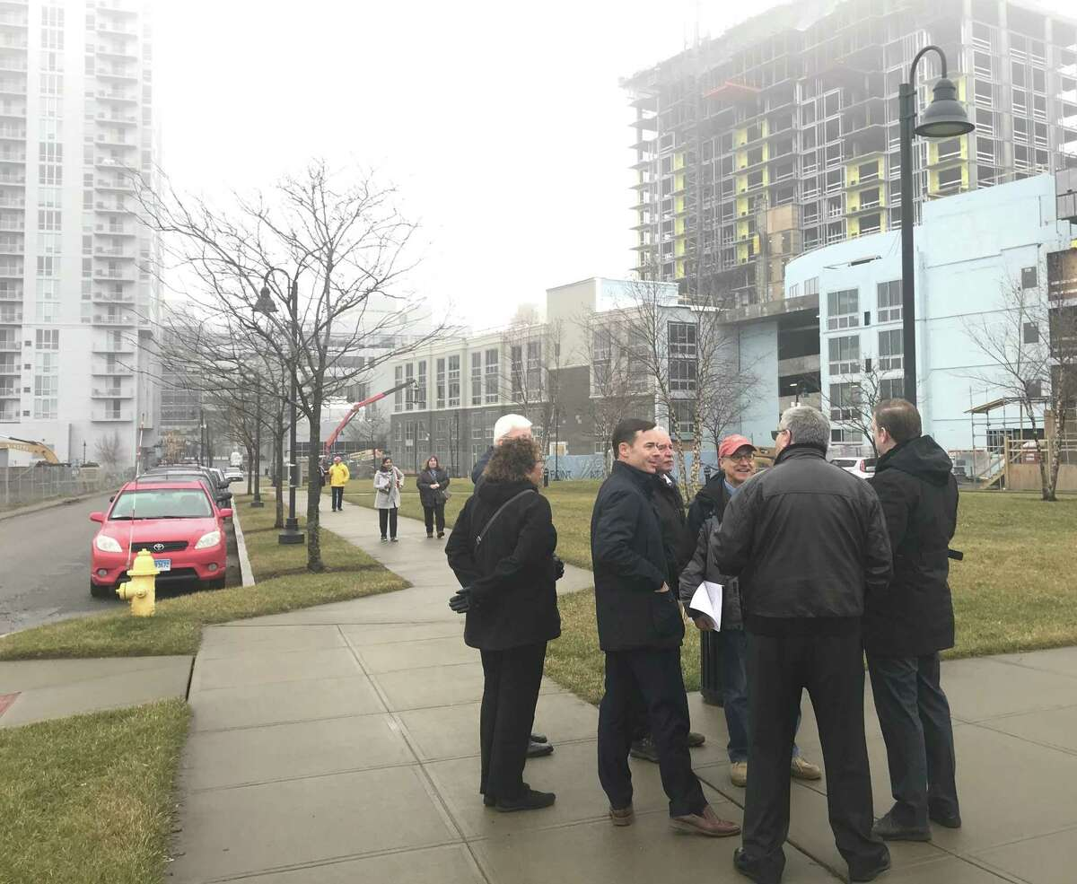 Stamford Zoning Board members and Land Use Bureau staffers toured the South End, the neighborhood now 10 years into the sprawling Harbor Point development, on Tuesday, Jan. 8, 2019.