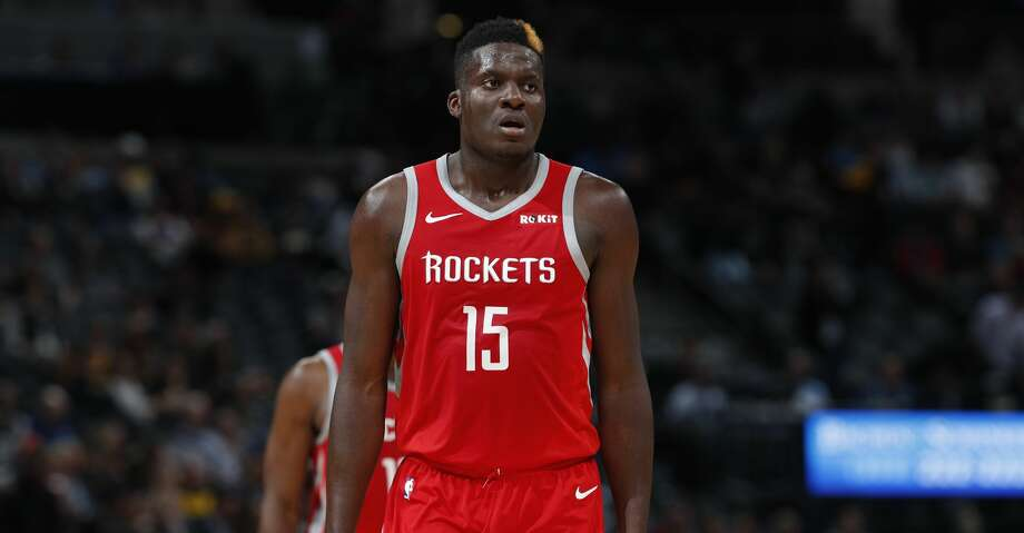 Houston Rockets center Clint Capela (15) in the second half of an NBA basketball game Tuesday, Nov. 13, 2018, in Denver. The Rockets won 109-99. (AP Photo/David Zalubowski) Photo: David Zalubowski/Associated Press