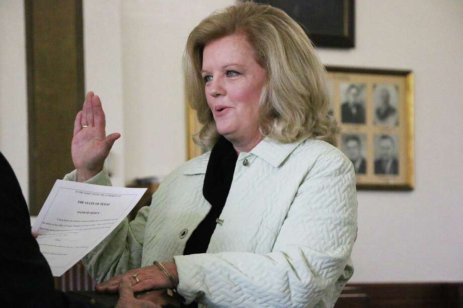 County Treasurer Kim Harris, recently sworn in for her fourth consecutive term, presented the results of thedependent eligibility audit showing six allegedly ineligible members were using the insurance. Photo: David Taylor / HCN