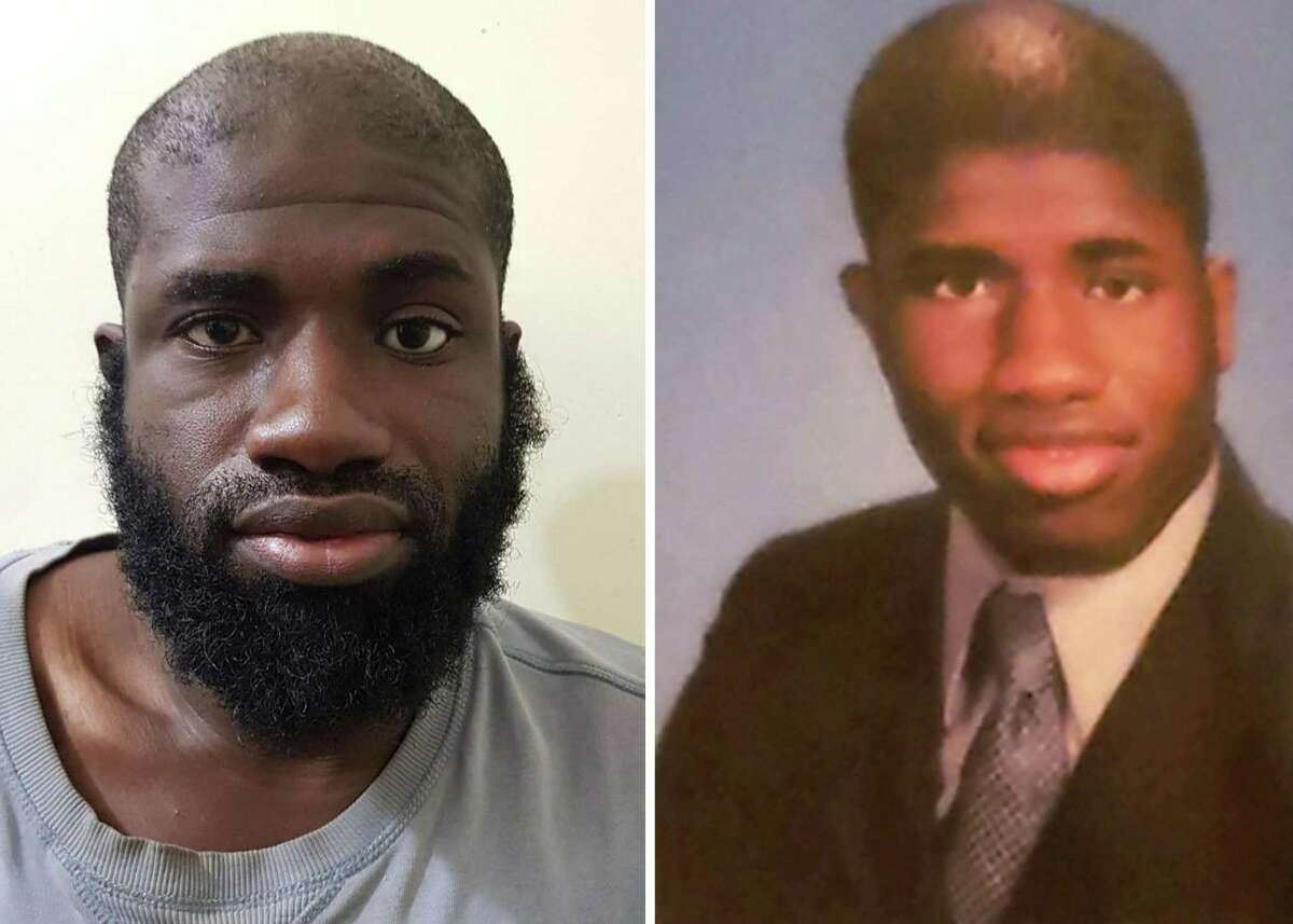 Warren Christopher Clark, also known as Abu Muhammad al-Ameriki, of Sugar Land, is shown at left in a mugshot posted by the Syrian Democratic Forces in early January 2019. The SDF claimed capture of Clark and four other foreign nationals believed to be ISIS combatants. In the photo at right, Clark is shown in his senior portrait from The Silver Bullet, the yearbook at William P. Clements High School in Sugar Land. He graduated in 2003.