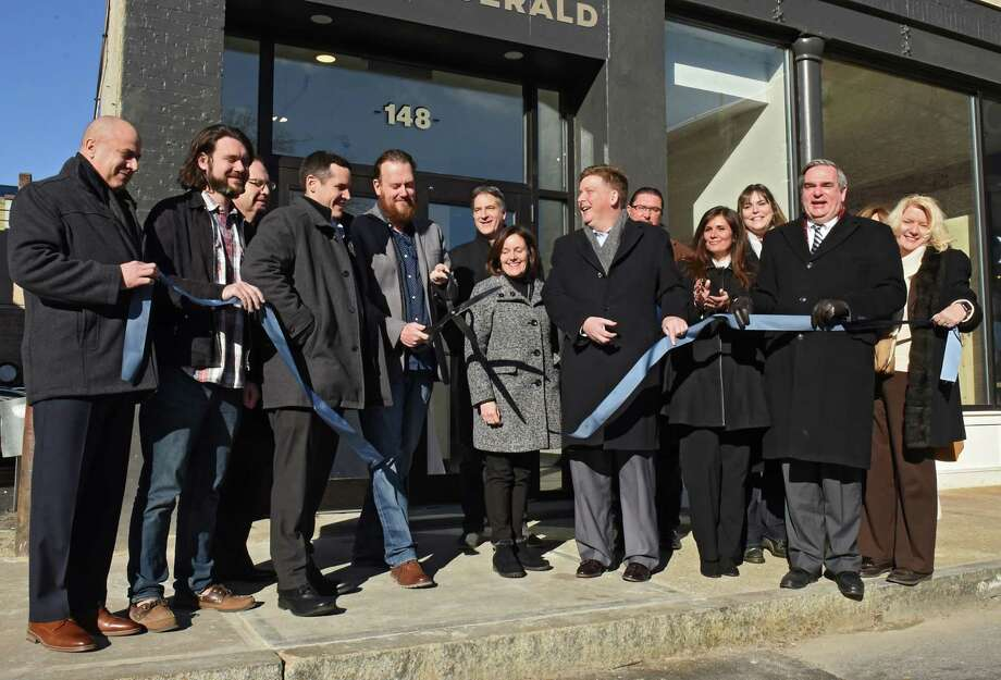 Here's what's new in Schenectady development.  The Clinton Street Apartments were officially opened with a ribbon-cutting ceremony on Friday, Jan. 11, 2019.   Photo: Lori Van Buren / 40045890A