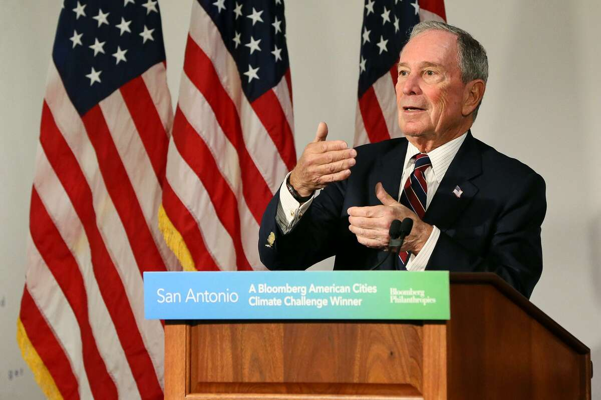 Michael Bloomberg, the United Nations special envoy for climate action and former New York City mayor, announces Jan. 11, 2019, that his philanthropy organization will provide up to $2.5 million to support San Antonio's climate action plan.