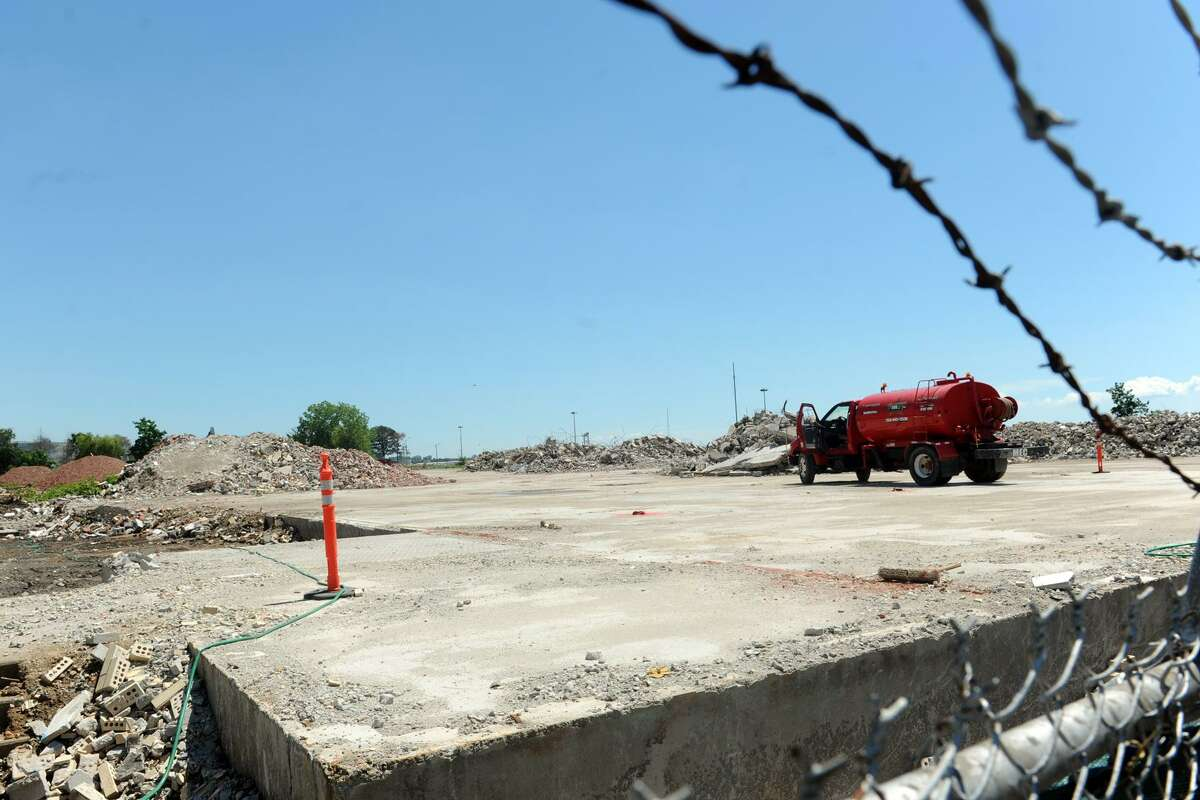 The former Remington Shaver property at 60 Main St., in Bridgeport, Conn. has been demolished to make way for a $57 million project to build 200 apartments and a marina near Seaside Park, seen here July 27, 2016.