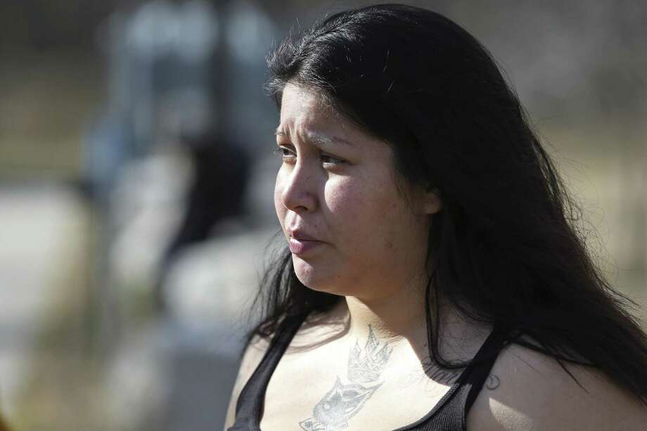Jasmine Gonzales, 24, the mother of King Jay Davila, is pregnant with Christopher Davila's child. Her estranged husband, Martin Gonzales says he, not Christopher, is King Jay's father. Photo: Jerry Lara /Staff Photographer / © 2019 San Antonio Express-News