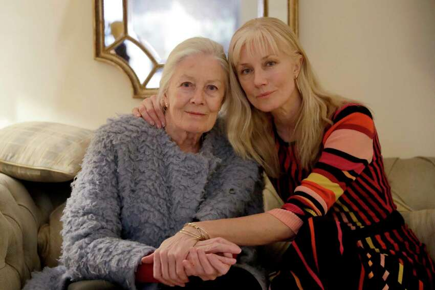 British actresses Vanessa Redgrave and her daughter Joely Richardson pose for portrait photographs before an interview with The Associated Press in London, Tuesday, Jan. 8, 2019. Vanessa Redgrave first saw ?The Aspern Papers? as a child, when her famous father adapted it from a Henry James novella and played the male lead. Decades later, Vanessa Redgrave acted the role of Miss Tina on stage, now she is playing the forbidding grande dame Juliana Bordereau in a movie version, this time with her daughter Joely Richardson cast in the younger woman?s role. (AP Photo/Matt Dunham)