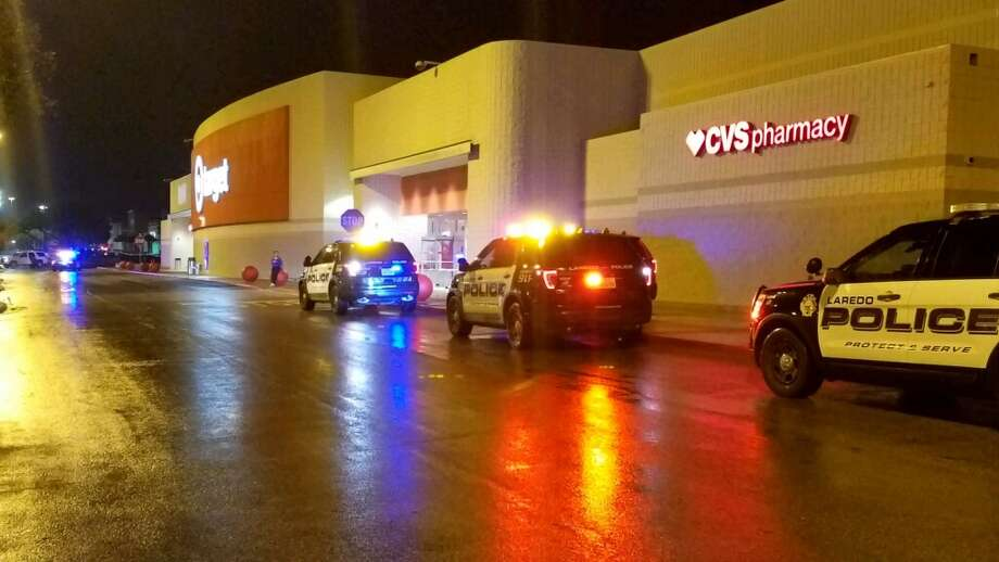 Laredo police units are parked outside the Target off San Dario Avenue on Friday, Jan. 11, 2019. Photo: Laredo Morning Times