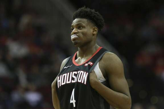 Houston Rockets forward Danuel House Jr. (4) during the third quarter of the NBA game against the Cleveland Cavaliers at Toyota Center on Friday, Jan. 11, 2019, in Houston. The Houston Rockets defeated the Cleveland Cavaliers 141-113.