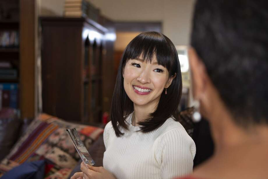 "Home organizer Marie Kondo stars in Netflix's new reality series, ""Tidying Up with Marie Kondo."" Photo: Denise Crew, Netflix"