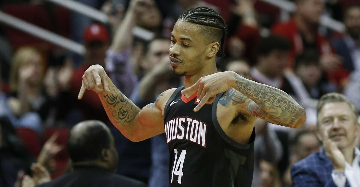 Gerald Green often threw up the H to celebrate a big play with his hometown Houston Rockets.