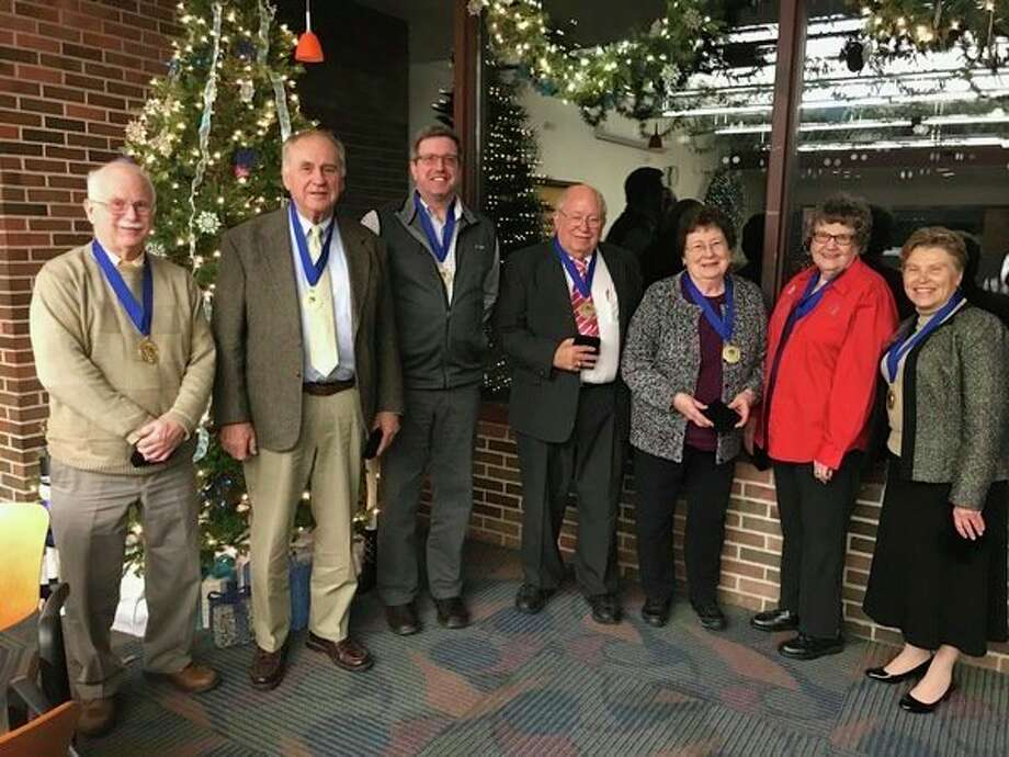 The Mid Michigan College Board of Trustees receives the Phi Theta Kappa Board of Trustees Award at the Association of Community College Trustees' Annual Leadership Congress in New York City. (Photo provided)