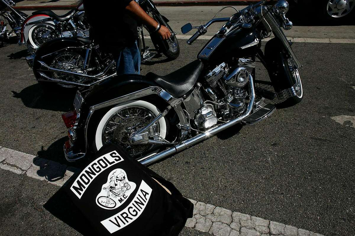 In an October 21, 2008, file image, hundreds of heavily armed federal agents and local police fanned out across Southern California and cities in other states, arresting members of the notorious Mongols motorcycle gang on federal racketeering charges. But the most lasting blow to the Los Angeles-based bikers came as the feds also sought to seize control of the Mongols' trademarked name and cherished insignia -- a pony�tailed Genghis Khan�like figure riding a chopper. On Friday, Jan. 11, 2019, a jury finally agreed, stripping the gang of the logo. (Michael Robinson Chavez/Los Angeles Times/TNS)