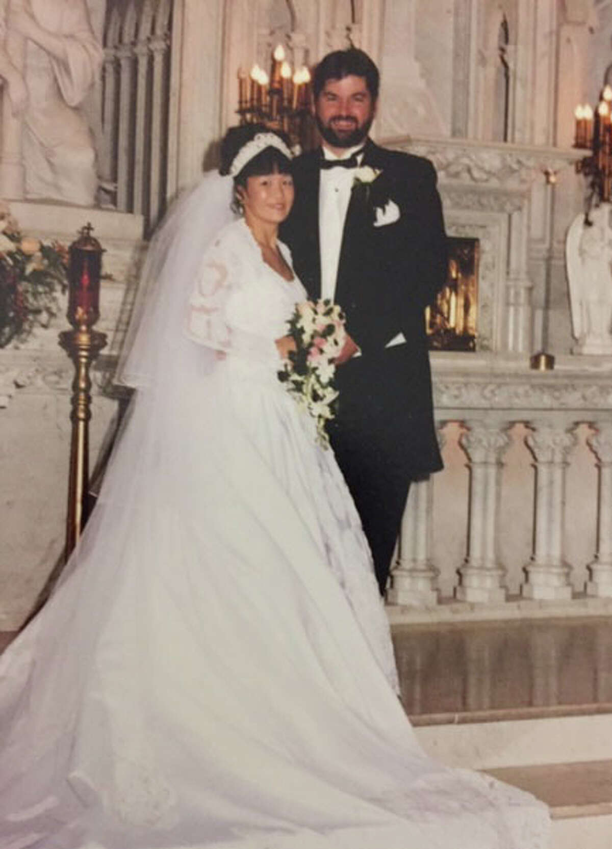 Stephen J. Erickson and his ex-wife, Margaret Sorokey, were married in 1999 in Schenectady. She said their marriage was dysfunctional and that Erickson had kept hidden the sexual abuse he suffered as a young boy at a Catholic school in Albany. (Provided photo)