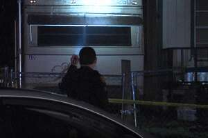 San Antonio police say a woman was shot as she walked outside her home Friday night Jan. 12, 2019.