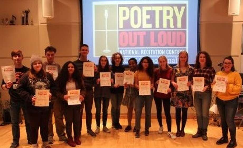 On Jan. 8, more than two dozen Bethlehem High School students represented the school in the national Poetry Out Loud recitation contest. (Provided photo)