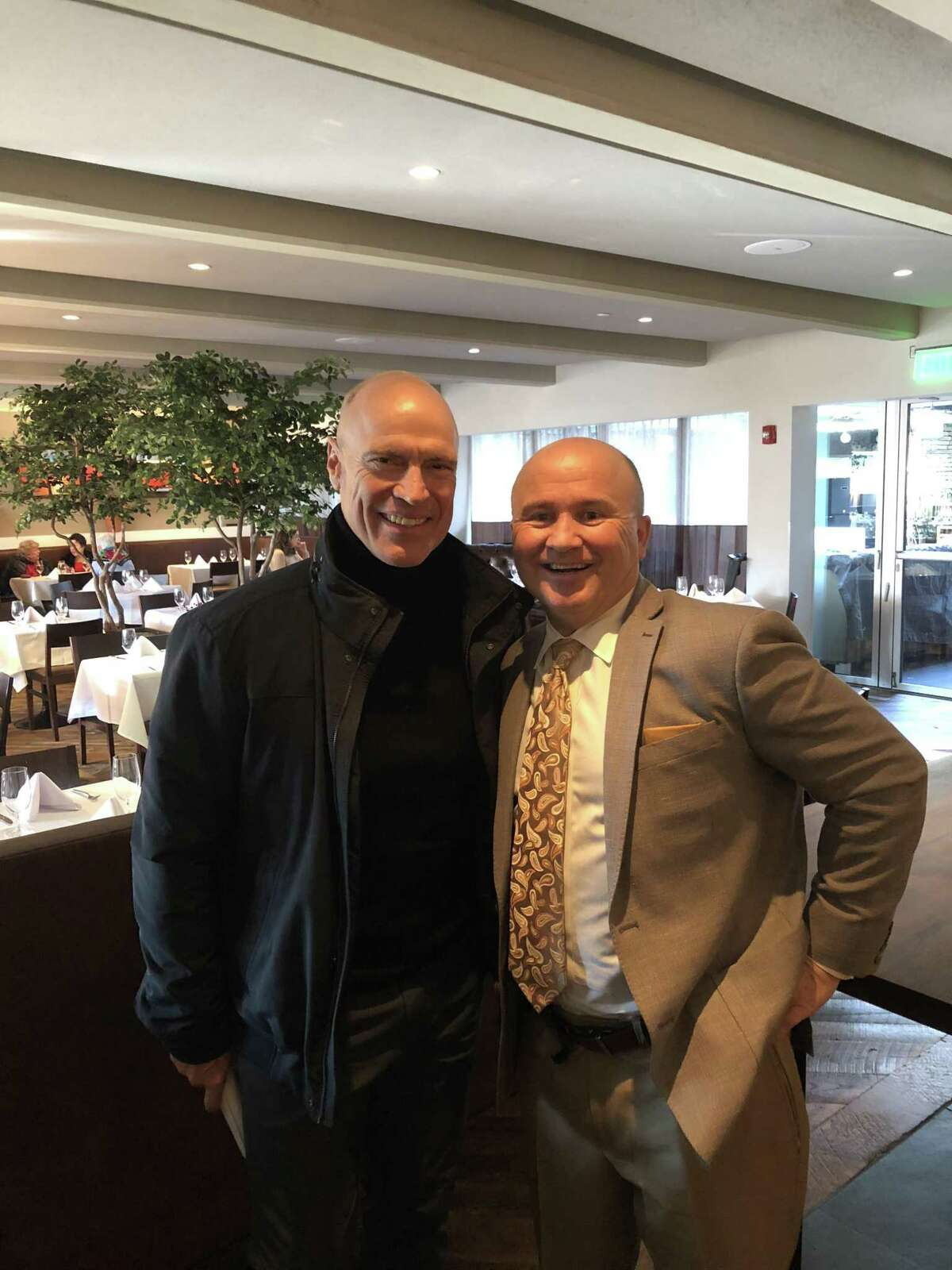 Greenwich resident and former NHL star Mark Messier with Tony Capasso at Tony?'s at the JHouse in Riverside.