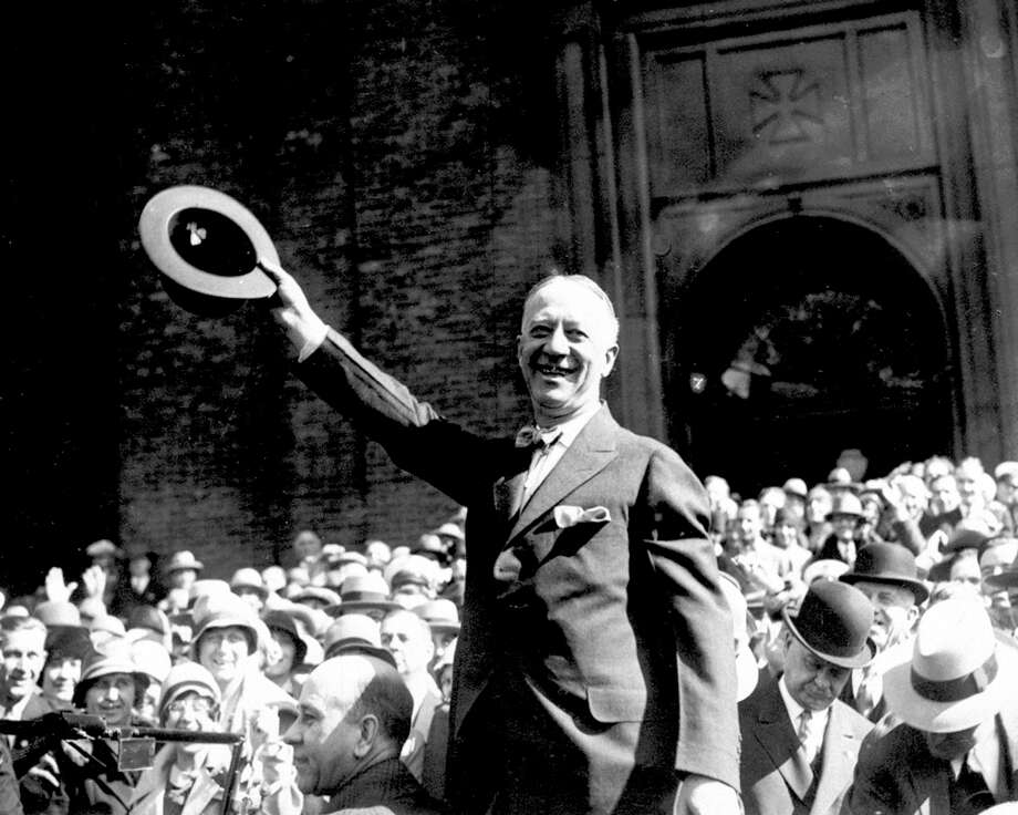 ** FILE ** This is a 1928 photo of New York Gov. Alfred E. Smith campaigning.  (AP Photo) / AP