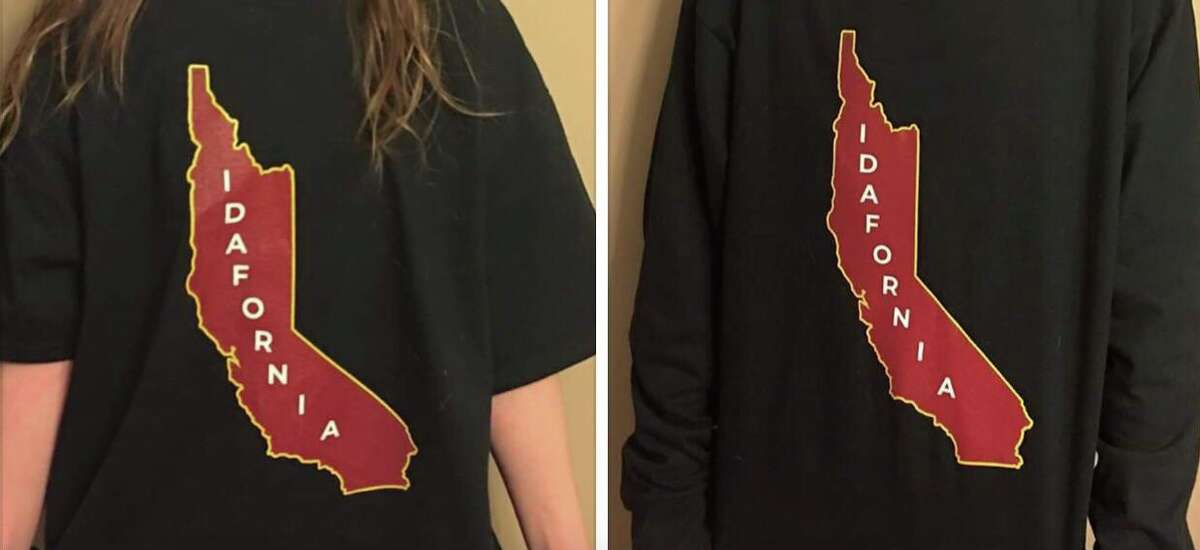"""Idafornia"" T-shirts ignited an online war between California transplants and Idaho natives."
