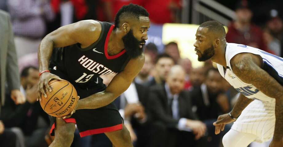 PHOTOS: Rockets game-by-game Houston Rockets guard James Harden (13) sizes up Orlando Magic forward Jonathon Simmons (17) in the 4th-quarter of an NBA basketball game at Toyota Center on Tuesday, Jan. 30, 2018, in Houston. ( Steve Gonzales / Houston Chronicle ) Browse through the photos to see how the Rockets have fared in each game this season. Photo: Steve Gonzales/Houston Chronicle