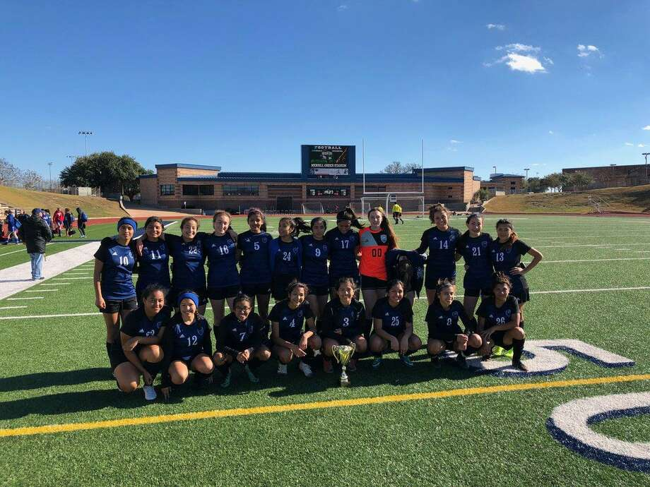 The New Caney Lady Eagles are the consolation champions of the Brazos Valley Cup in Bryan after a win on penalty kicks over Crowley on Saturday.