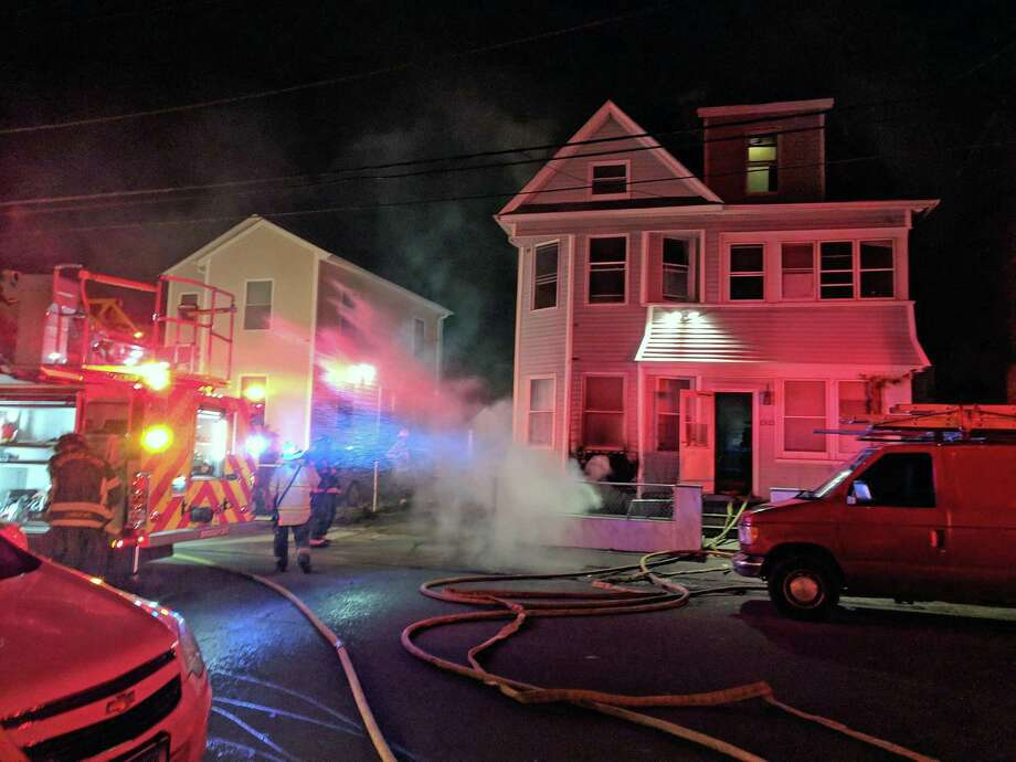 Firefighters extinguished a basement fire in Bridgeport, Conn., on Jan. 12, 2019. Photo: Contributed Photo / Contributed Photo / Connecticut Post Contributed