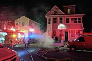 Firefighters extinguished a basement fire in Bridgeport, Conn., on Jan. 12, 2019.