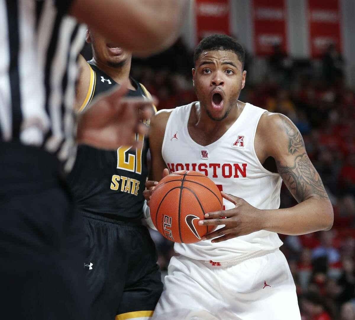 Breaon Brady Houston Cougars Basketball Jersey - Red