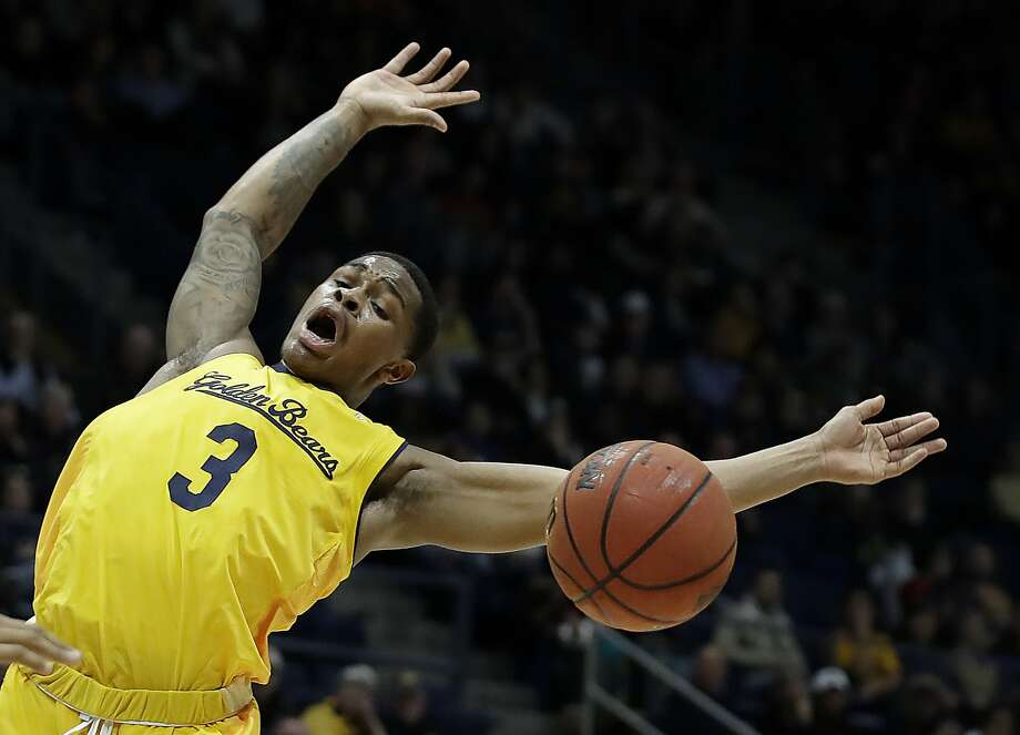 Cal's Paris Austin, who returned from a sprained ankle, loses the ball during the first half of the Bears' loss to Arizona. Photo: Ben Margot / Associated Press