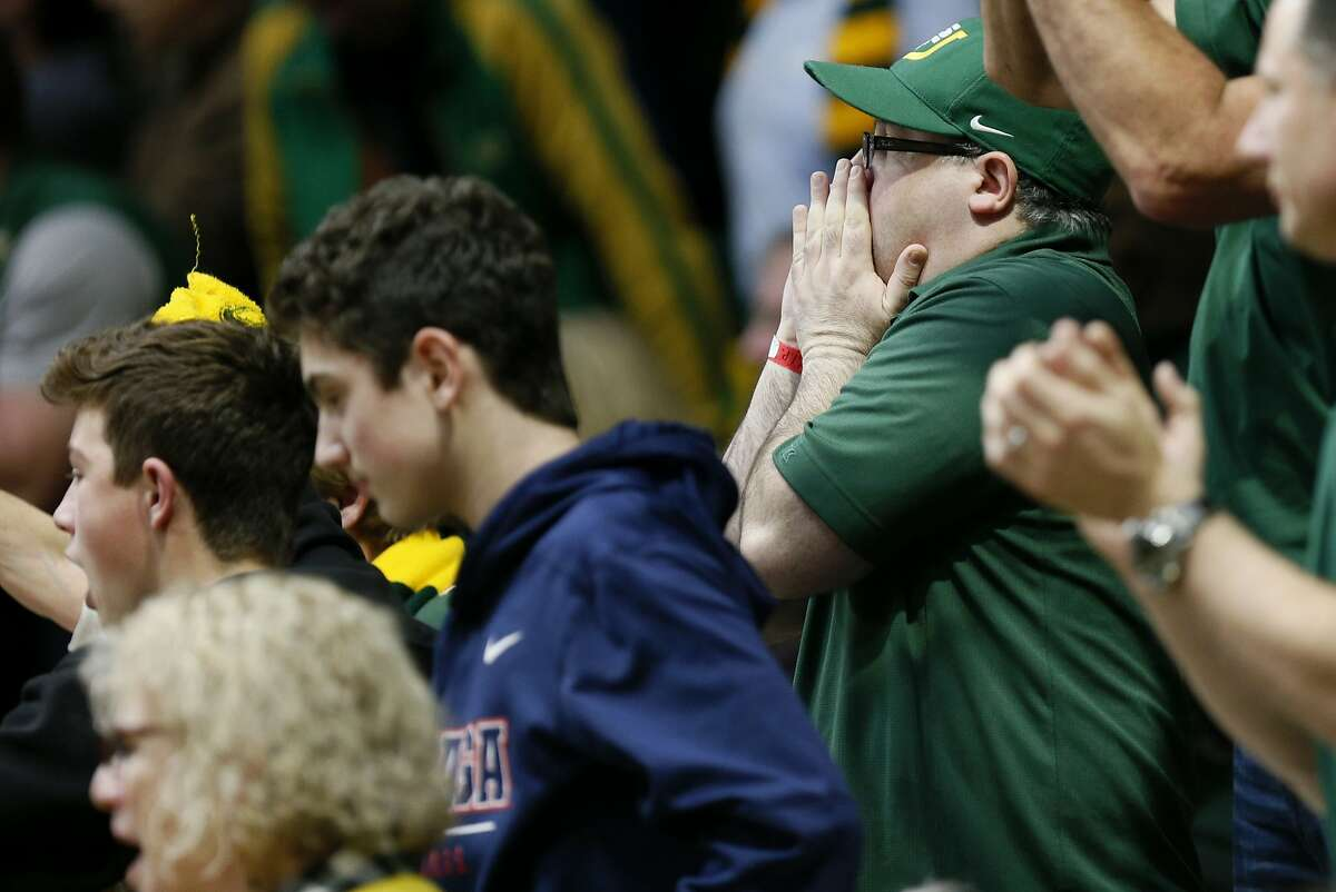 San Francisco Dons fans in the second half of an NCAA basketball game against the Gonzaga Bulldogs at Memorial Gym on Saturday, Jan. 12, 2019, in San Francisco, Calif.