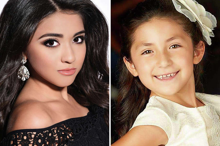 Selena Hernandez (L) and Yareli Quiroga (R) were crowned at the Laredo Miss Celebrations USA pageant in April 2018.. Photo: Courtesy