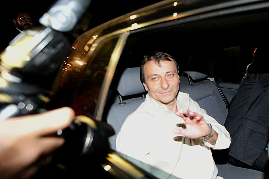 Cesare Battisti, shown leaving prison in Brasilia, Brazil, in 2011, was convicted in absentia in 1990. Photo: Evaristo Sa / AFP / Getty Images 2011