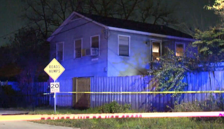 A man was shot to death at a residence in north Houston on Saturday night. Photo: Metro Video