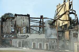 The Shakespeare theater, in Stratford, Conn. burned to the ground early Sunday morning, Jan. 13, 2019. Opened in 1955 as the American Shakespeare Festival Theatre, the building had stood vacant for many years.