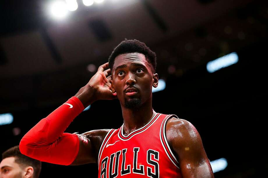 The Chicago Bulls' Bobby Portis during action against the Denver Nuggets at the United Center in Chicago on March 21, 2018. (Armando L. Sanchez/Chicago Tribune/TNS) Photo: Armando L. Sanchez / TNS