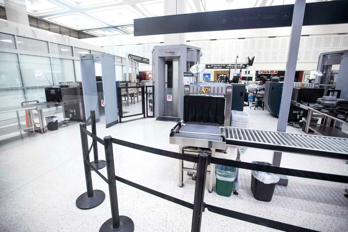The security screening line in Terminal B at George Bush Intercontinental Airport was closed on Sunday, Jan. 13, 2019, in Houston. The terminal will remain closed until further notice, airport officials said Friday.