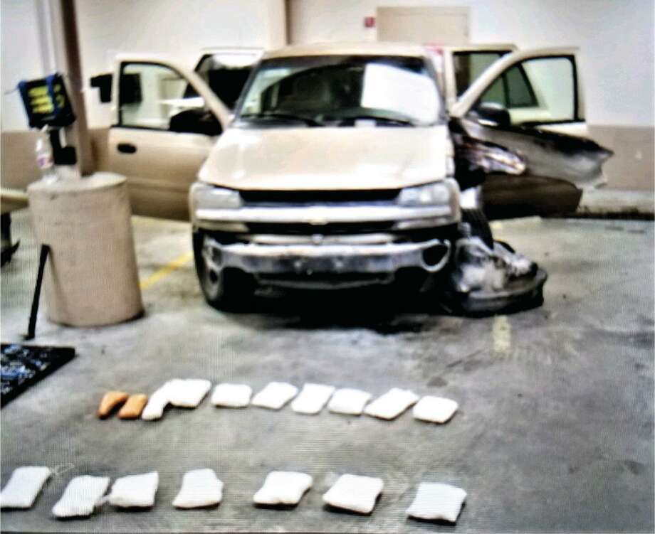 Shown is the vehicle where 17 bundles of crystal meth totaling 17 kilograms were found. Photo: Laredo Police Department /Courtesy Photo
