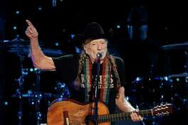 Willie Nelson performs at Willie: Life & Songs Of An American Outlaw at Bridgestone Arena on Saturday, Jan. 12, 2019, in Nashville, Tenn. (Photo by Al Wagner/Invision/AP)